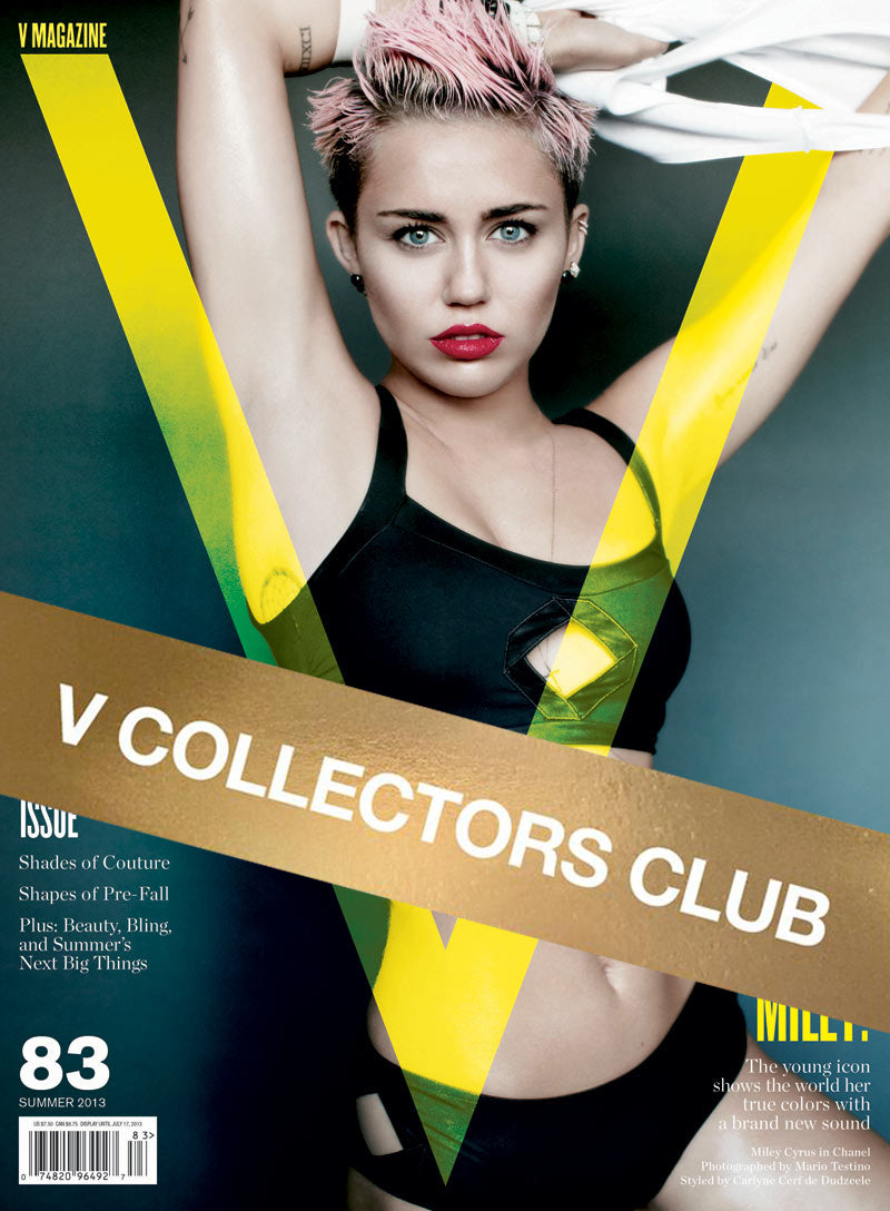 V COLLECTORS CLUB PRESENTS: MILEY CYRUS- REBEL WITH A CAUSE- V91 & V83