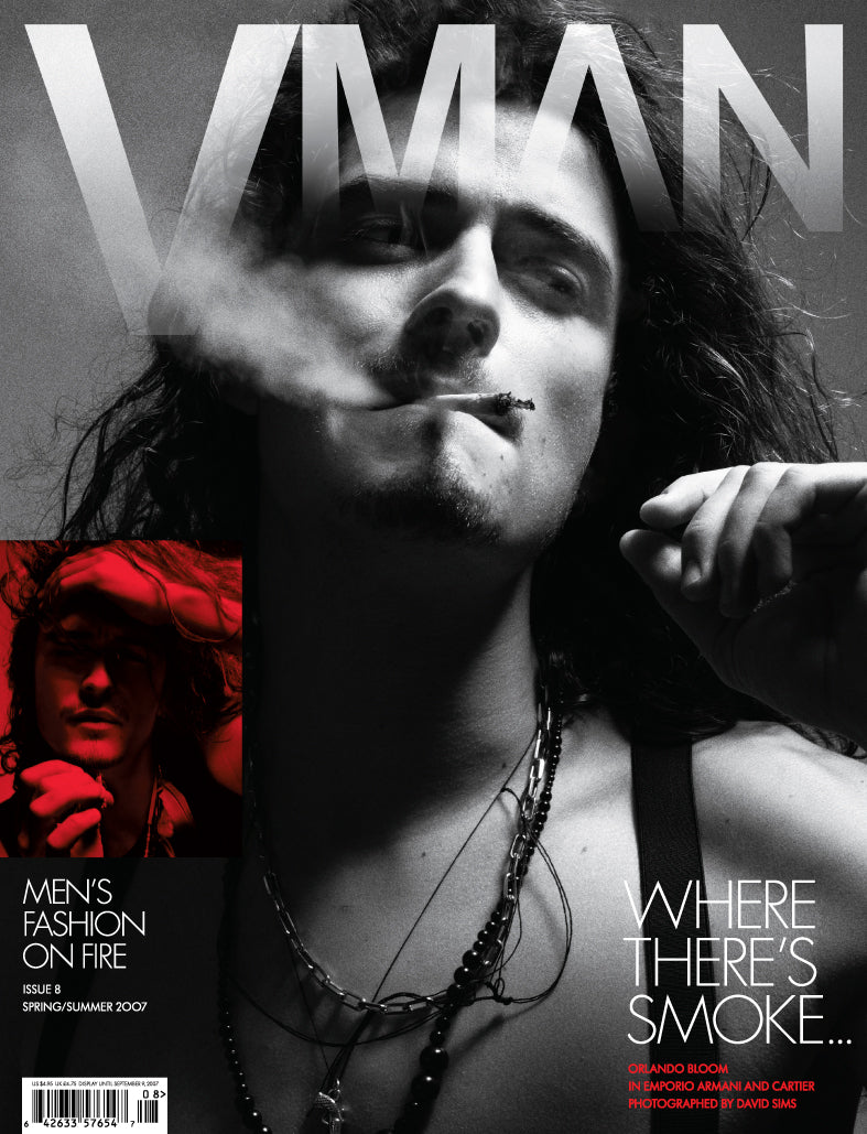 VMAN 8 MEN'S FASHION ON FIRE ISSUE