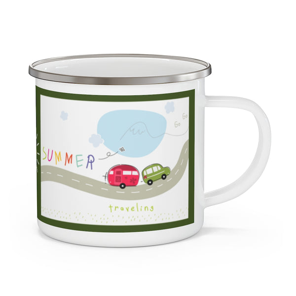 Time To Travel Enamel Camping Mug