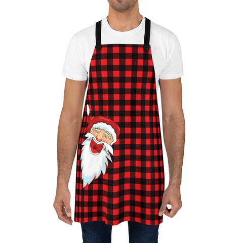 Santa Buffalo Plaid Apron