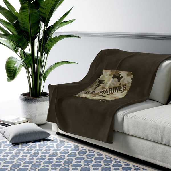 Proud of our Marines - Serving Our Country Decor - Marine Decorations - Marine Blankets - US Marine Throws - Marine Bedding