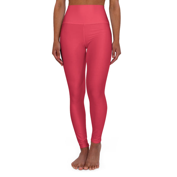 Pretty In Pink High Waisted Leggings - Hot Pink High Waisted Yoga Pants