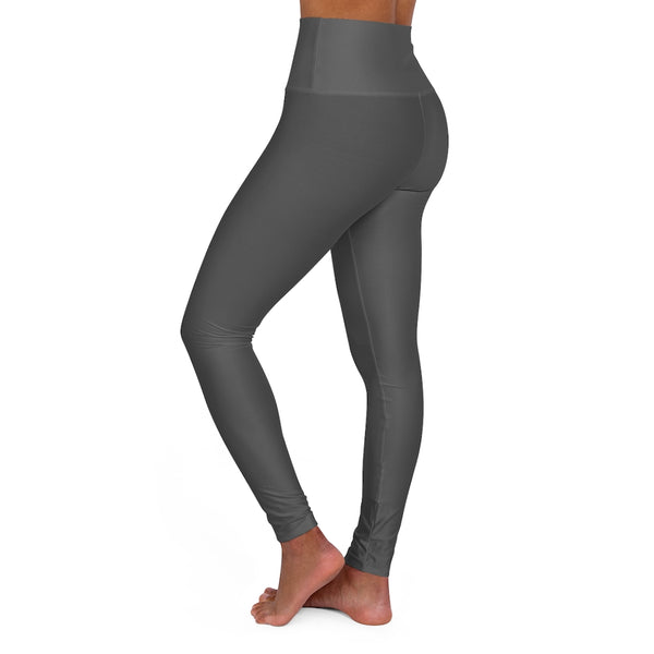 Glamorous Grey High Waisted Leggings - Muffin Top No More Yoga Pants