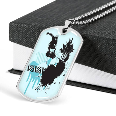 Get Some Air Skateboard Dog Tag - Teenager Gifts - Skateboarding - Skateboarder Gifts Active