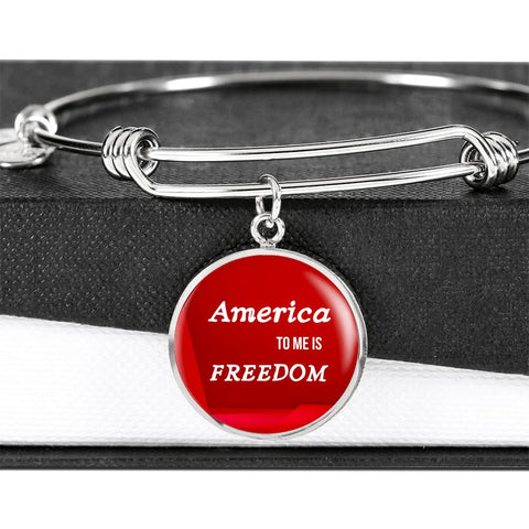 Show Your Pride In America Luxury Bangle Bracelet