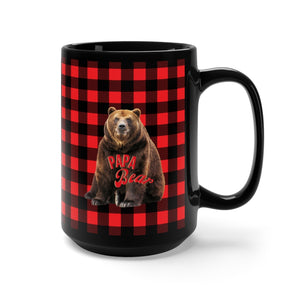 Papa Bear Loves His Morning Coffee - Mug For Papa Bear - Dads Favorite Coffee Mug