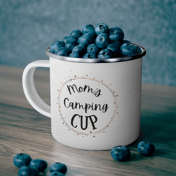 Mom's Enamel Camping Mug - For Mom's Only Camping Mug