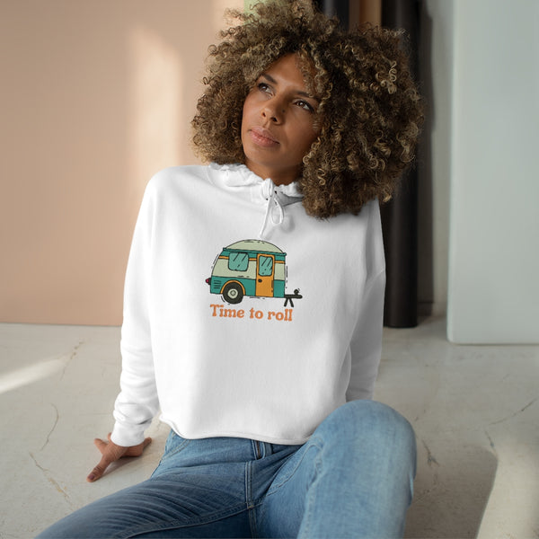 It's Time To Get On The Road Crop Hoodie - Looking Forward To Camping Crop Top - Campfire Crop Sweatshirt