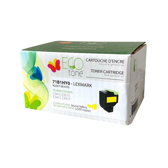 Lexmark CS / CX417 / 517 Reman Yellow Ecotone 3.5K