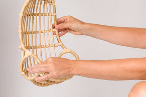 rattan egg toy swing