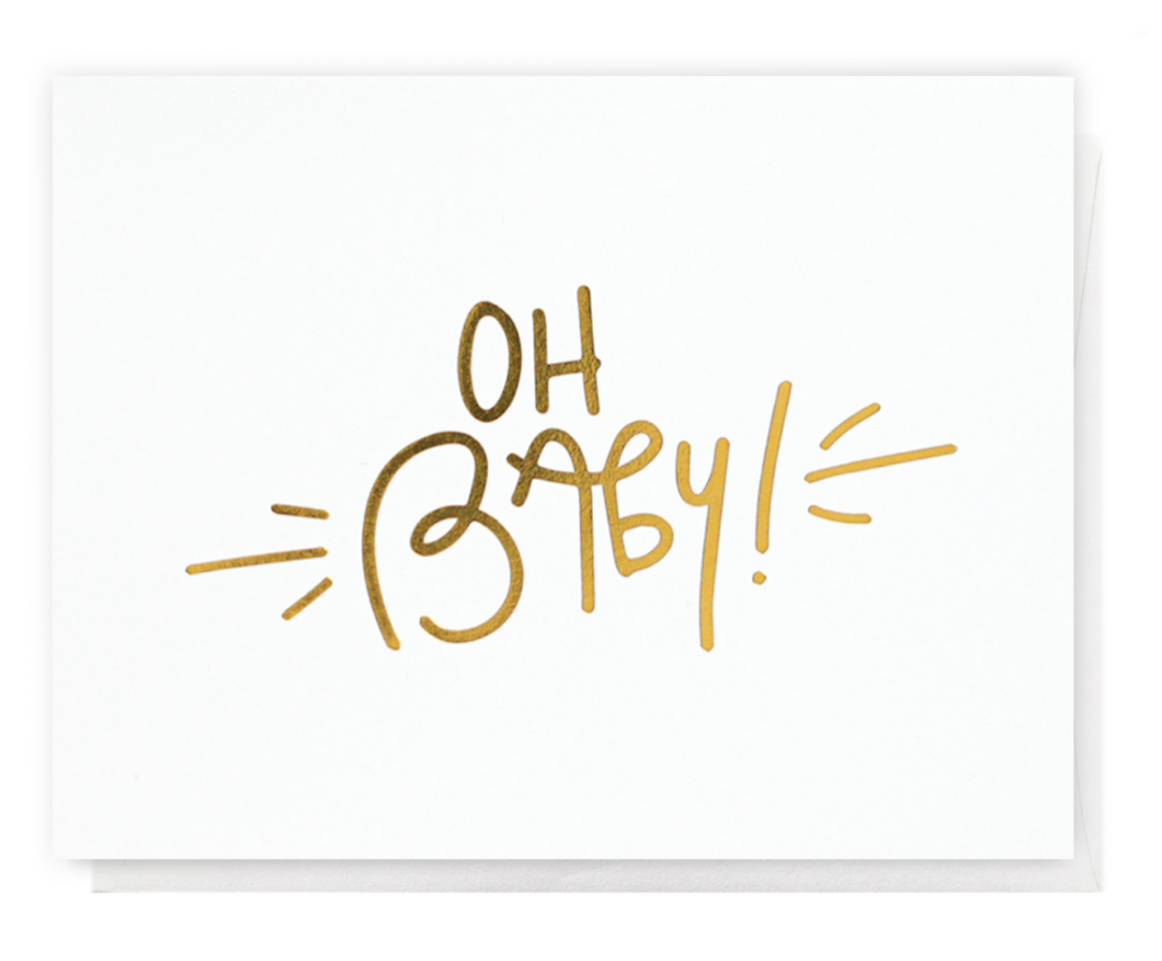 oh baby! greeting card