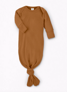 infant gown in ginger