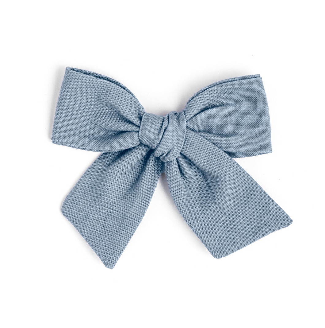 French blue bow with reversible clip