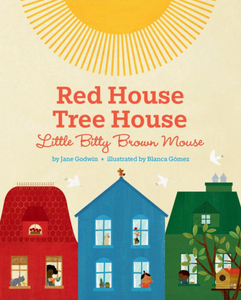 red house, tree house, itty bitty brown mouse