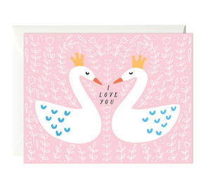 p&w swan i love you card