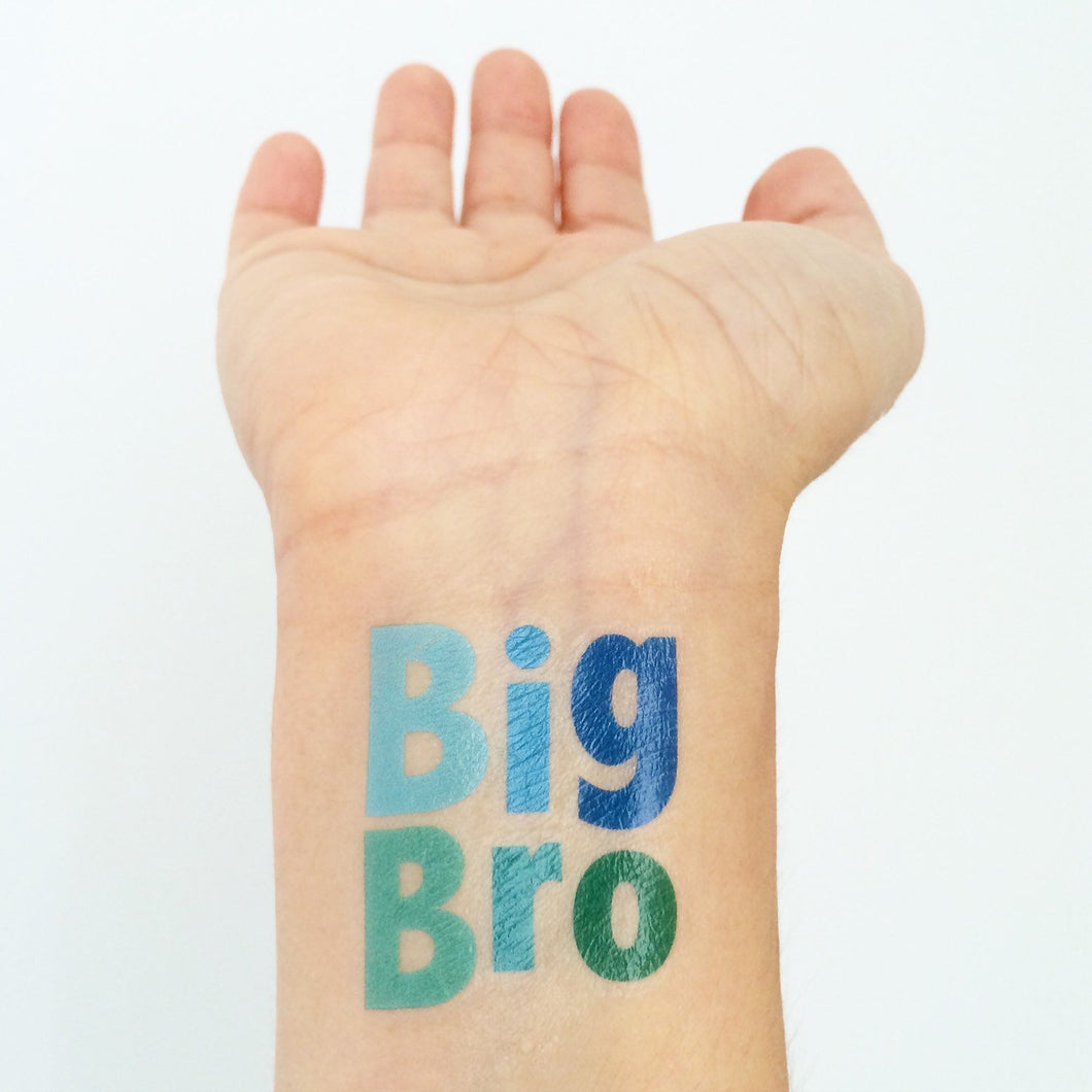 big bro temporary tattoo