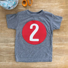 lala land large circle number tee (1-4)