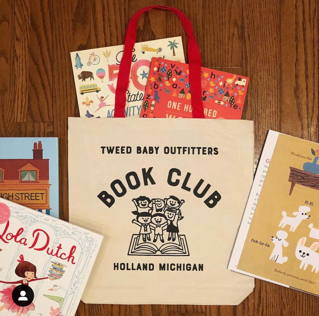 canvas book club tote