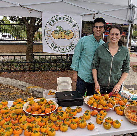Seth and Sophie at the Takoma Park market