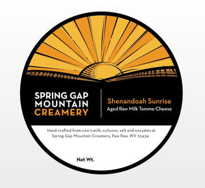 Aged Raw Milk Tomme Spring Gap Mountain Creamery 7oz wedge