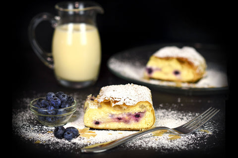 Cheese Blueberry Strudel Little Austria