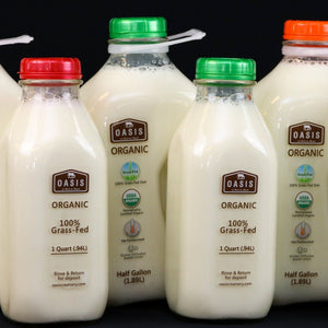 Organic Two-Percent Milk Oasis Creamery Half gallon