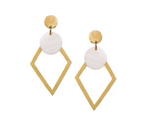 Ethical handmade geometric earrings