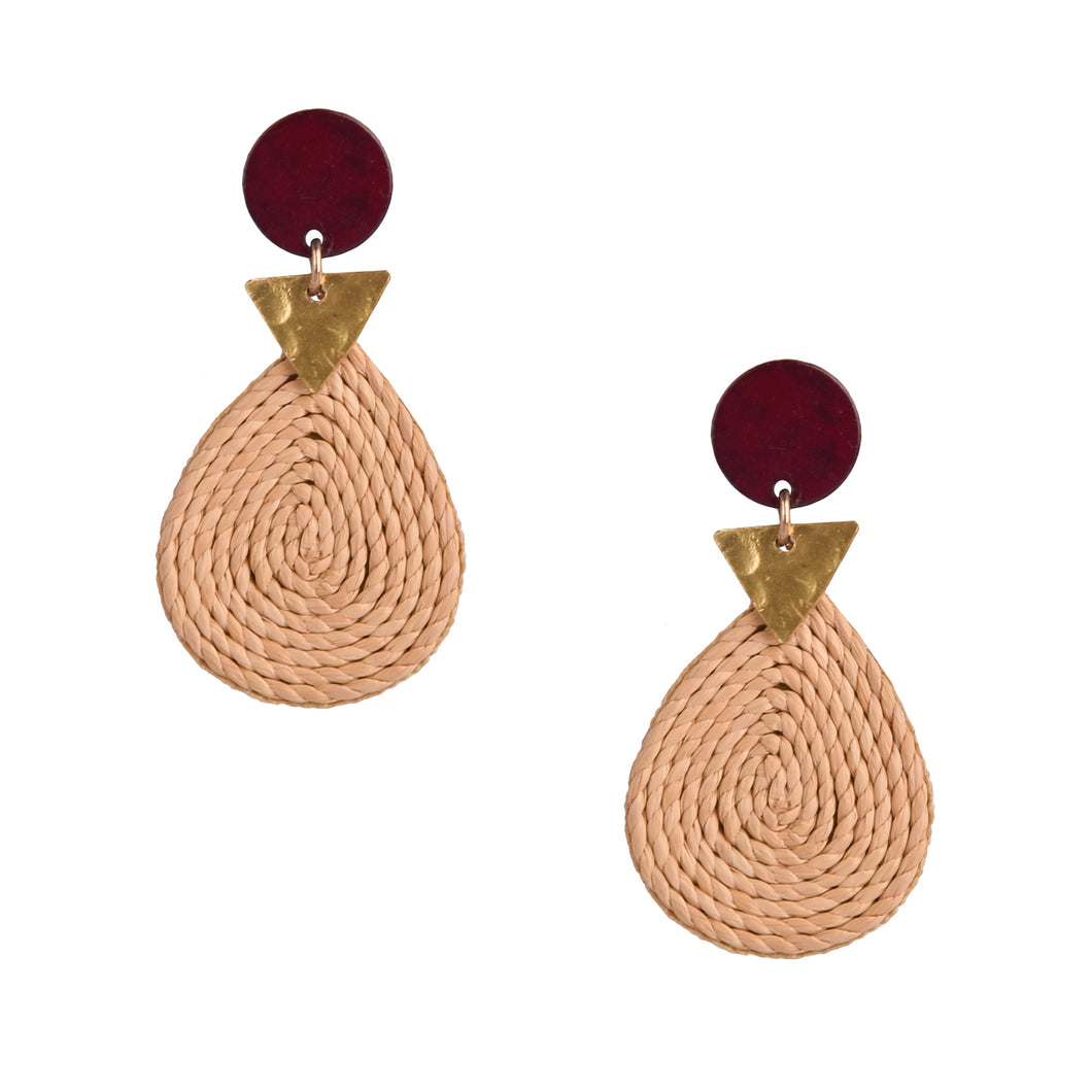 Kiran earrings, berry