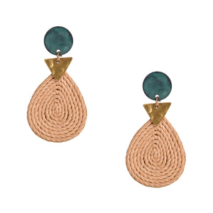 Kiran earrings, green