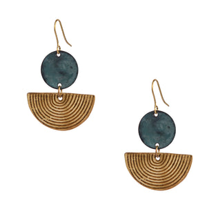 Freya earrings, gold