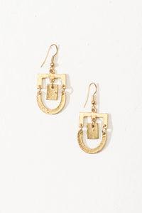 Jhalak mini earrings, gold