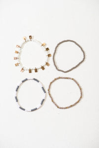 Ayesha bracelets, set of 4