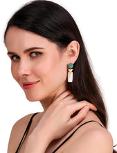 Ela earrings, green