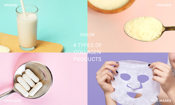 4 types of collagen products