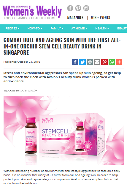 Women's Weekly Avalon Stemcell Beauty Drink
