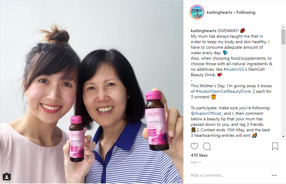 Kaiting Hearts SG Avalon Stemcell Beauty Drink