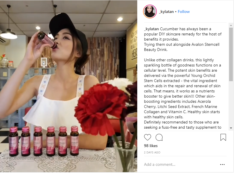 Kyla Tan SG Avalon Stemcell Beauty Drink