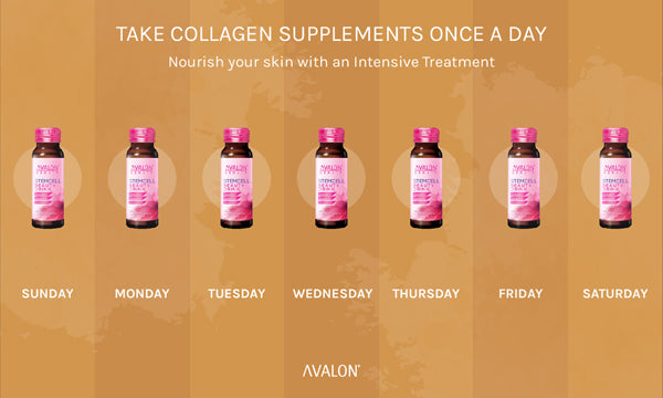 Take collagen supplements once a day