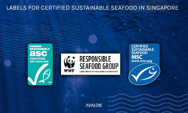 labels for certified sustainable seafood in Singapore