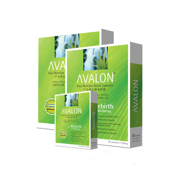 AVALON® ALOE MULTIPLE DETOX (W/ 3 BILLION CFUS PROBIOTICS) VALUE TWIN PACK + 20 CAPSULES