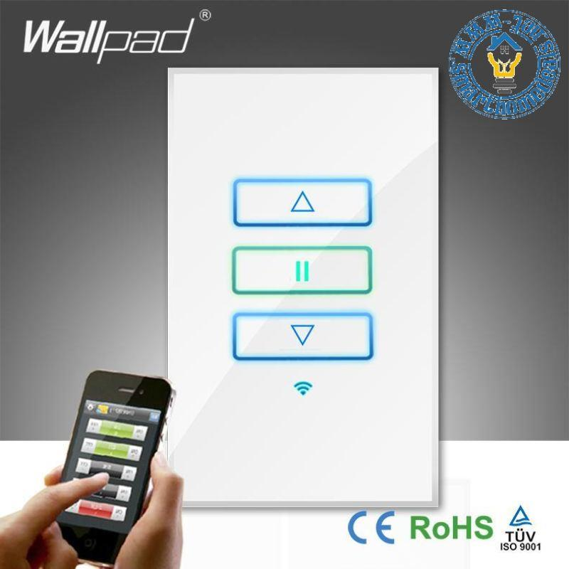 Smart home dealswallpad white glass wireless remote control dimmer wallpad white glass wireless remote control dimmer wall light switch aloadofball Images