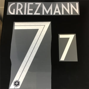 Antoine Griezmann 7 Home White France 2018 World Cup Home Hero Name Set - Adult
