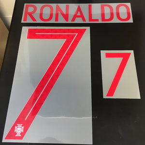 Cristiano Ronaldo Away Gym Red Portugal 2018 World Cup Home Hero Name Set - Adult