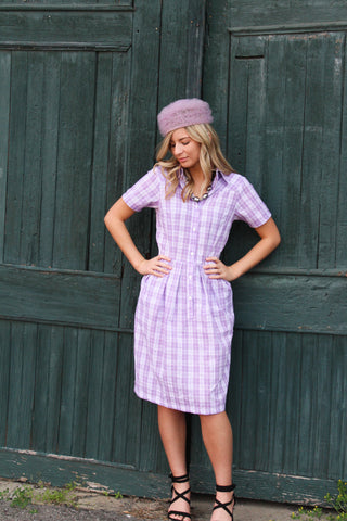 Short Sleeve Shirt Dress with pockets