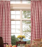 Checkered Panel Drape GINGHAM Buffalo POLYESTER PICNIC CHECKER Window Curtain