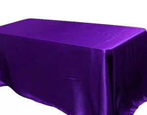 90 X 156 Inch Rectangular Satin Tablecloth Wedding Party Catering Shiny""