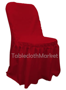 Chair Covers Pleated Polyester Wedding Party Decorations Folding Chair 24 Colors""