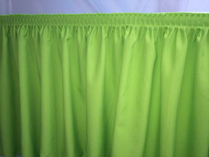 21' Polyester Pleated Table Set Skirt Skirting Trade Show Apple Green Catering""