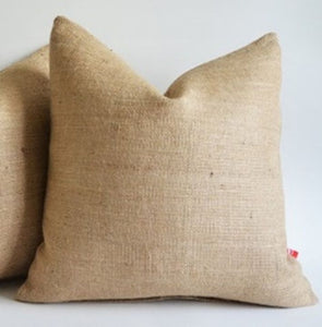 Burlap Pillow Cover 12x 12 Inches Inch Rustic Decor""