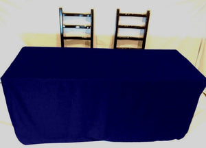 4' Ft Fitted Polyester Tablecloth Slit Back Tablecover Trade Show Booth 18 Color""